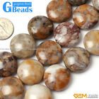 20mm Natural Assorted Stones Coin Beads For Jewelry Making Free Shipping 15""