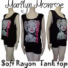 Cute Marilyn Monroe Tank Top Shirt & Forever Pink Letter Soft Rayon Shirt S/M/L