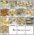 Gold Plated Metal Bead Caps Choose Size/Style/Qty