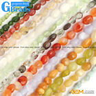 "6x8mm Freeform Gemstone Loose Beads Strand 15""Jewelry Making Beads Free Shipping"