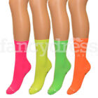 Ladies Womens Girls Kids Neon Florescent Party Ankle Socks 80s Style Womens New