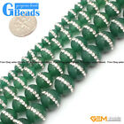 "New Arrivals Round Agate Gemstone Loose Beads with Rhinestones 15""Free Shipping"