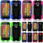For Motorola Moto G IMPACT DUAL LAYER HYBRID HARD SKIN CASE W/STAND COVER