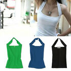 Summer Sexy Women Halter Neck Casual Vest Sleeveless Tank Tops Backless T Shirt