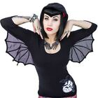 Women's Kreepsville 666 Bat Wing Hooded Tunic Top Gothic Horror Fashion