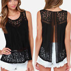 New Womens Fashion Sexy Lace Sleeveless T-shirt Vest Floral Blouse Tee Tank Tops
