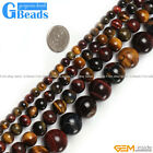 "Multi-Color Tiger's Eye Gemstone Round Beads Free Shipping 15"" 6mm 8mm 10mm 12mm"