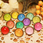 12 Colours Girl's Candy Colour Crystal Ear Stud Pierced Earring Jewelry Gift