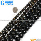 "Round Gemstone Blue Tiger Eye Stone Beads Strand 15""Jewelry Making Beads"