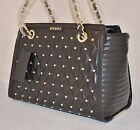 $109 GUESS Luxe Carryall Studded Sholder Bag Purse Tote Satchel Classic Sac New