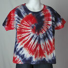 Toddler RED WHITE and BLUE swirl tie dye t-shirt T2 T3 T4 T5 HeavyCotton Style
