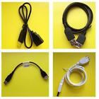 1x 22cm/49cm/78cm/0.8m USB 2.0 Extension Cable/Lead A Male>A Female Black/White