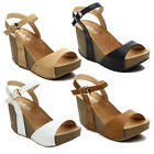 Refresh MARA-06 Women's Ankle Strap Comfort Wide Band Platform Wedge Sandal