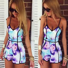Sexy Women Summer Floral Casual Jumpsuit Playsuit Rompers Trousers Shorts Dress