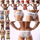 Men's Sexy Boxer Briefs Perspective Short Pants Sleeping Underpants Underwear