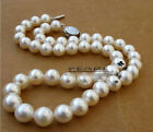 "9-10mm 16"",17"",18"",19"",20"" AAA Akoya White  Pearl Necklace Handmade Family"