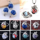 Fashion Dragon Wrap Inlaid Howlite Turquoise Round Bead Pendant for Necklace FB