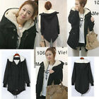 Women Coat Zip Hooded Parka Thick Fleece Warm Winter Overcoat Long Jacket