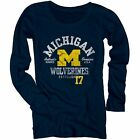 Michigan Wolverines Women's Medusa Scoop-Neck Long Sleeve T-Shirt