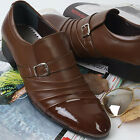 New Handmade Dynamic Brown Dress Casual Loafers Formal Mens Shoes