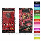 Motorola Droid Maxx/Ultra Pink Camo Design Hard+Rubber Hybrid Rugged Impact Case