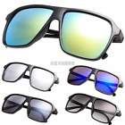 Hot Unisex Plastic Frame Square Lens Reflective Outdoor Beach Sunglasses K0E1