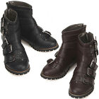 New Casual  Fashion Trend Strap Womens Ankle Boots Shoes Black Brown