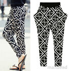 Womens Casual Loose Harem Pants Baggy Sweat Pant Trousers Fashion Hiphop Dance