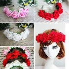 New Floral Crown Rose Flower Headband Hairband Wedding Hair Garland Headpiece