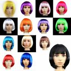 Ladies Sexy New Fashion Short Full Wigs Bob Style Party Cosplay Fancy Dress