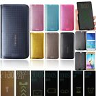 Smart Touch Mesh Dot View Flip Leather Cover Case For Samsung Galaxy S6 /S6 Edge