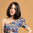 Fashion Bob Full Wigs Parted Bang Women Wig Costume Short Curly Wavy Weave Hair
