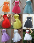 UK STOCK New Short Mini Cocktail Party Ball Gown Evening Prom Dress Size 6 -16