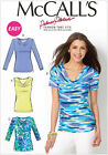 McCall's 6963 Easy Paper Sewing Pattern to MAKE Stretch Pullover Tops