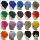 19 Colors Indian Style Headwrap Cap Turban Hat Cloche Chemo Hair Cover Headband