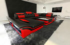 big sofas sectionals - Big Sectional Sofa ENZO U Shaped Design Sofa Genuine Leather with LED Lights