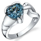 Love Knot Style 2.00 cts London Blue Topaz Ring Sterling Silver Sizes 5 to 9