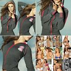 Chamela 15367 Women's Sexy Hoody Jacket Color Gray Talla M, reg.$84.40