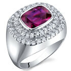 Extravagant Sparkle 2.75 cts Ruby Ring Sterling Silver Size 5 to 9