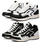 New SNRD Mesh Leather Women Athletic Fashion Taller Height Sneakers Hi Top Shoes