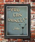 FV2 Framed Vintage Style Quote You Can Dance Vodka Alcohol Funny Poster A3/A4