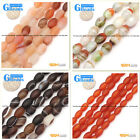 Faceted/Smooth Olivary Agate Beads Jewelry Making Loose Beads Free Shipping