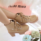 POP Modish Winter Womens Heavy-bottomed Non-slip Lace-up Ankle Boots Shoes US LA