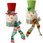 Snowman Head Christmas Tree Topper RAZ 2015 Merry Bright mb 3516520 NEW