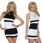 Women Sexy Sleeveles Cocktail Bodycon Dress Clubwear Evening Mini Dress Trendy