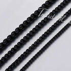 2/3/4/5mm Round Box Link Black Stainless Steel Necklace Mens Chain Womens Gift