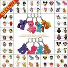 2-5PCS 2D My Little Pony Keychains Key Ring For Bags,Cell Phone Charm Strap Gift