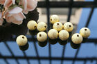"""212 PCS GOLD TONE 14mm 0.55"""" FROSTED BALL SPACER BEADS JEWELRY FINDINGS DIY"""