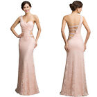 2015 Long Formal Wedding LACE Gown Party Pageant Evening Bridesmaid Dresses 6-16
