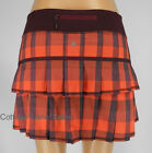 NEW LULULEMON Pace Setter Skirt 2 4 12 TALL Yama Check Flaming Tomato Bordeaux